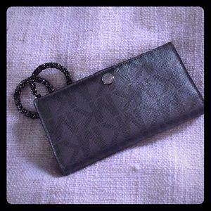 MK signature metallic wallet